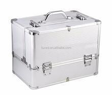 aluminium frame hard beauty case makeup case ABS aluminum cosmetic case&box