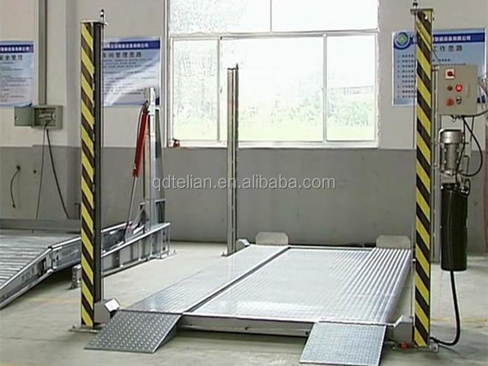 Telian usado 4 post elevador do carro para venda, veículo de estacionamento hidráulico de elevação