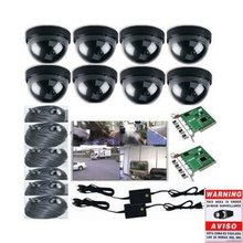 8 CCTV CCD Camera DVR Video Security Record System with Free Surveillance Warning Stickers DVK2806 1G1