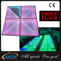 Interactive LED dance floor, RGB Color LED dance floor for party props