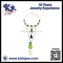 Wholesale new design925 sterling silver saft green necklace