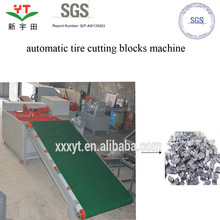 atomatic tire pieces/strips/blocks/chips production machine
