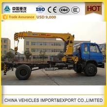 4x2 dongfeng 8 ton SANY telescopic boom mobile truck crane