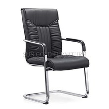 Commercial office black without wheels boss leather chair (SZ-OC150)