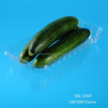 disposable transparent plastic tray for vegetable and fruit
