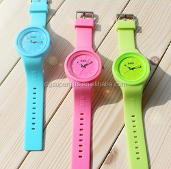 2015 new design colorful silicone flash watches kids plastic watches