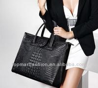 china alibaba online shopping famous brand fashion executive large crocodile pattern genuine leather bags from india