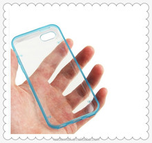Wholesale Transparent Plastic Case with Fluorescent Effect TPU Frame for iPhone 5C