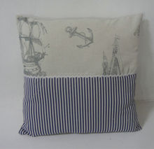 2015 style Hot Sale Hot Sale Wholesale custom Decorative Throw pillow Linen and Cotton square shape with an ocean design