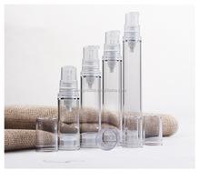 Manufacturer new design plastic airless bottle,clear PP airless pump bottle