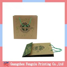 Printed Kraft Christmas Paper Shopping Bags Ruler Packaging Bag