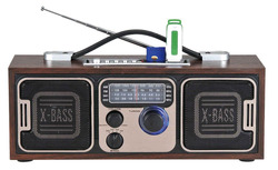 AM / FM SW Rechargeable Battery No Screen Classic Portable Mini Radio with fm Speaker