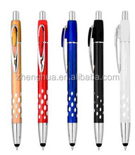 Hot selling metal stylus ball point pen with silicone tip touch
