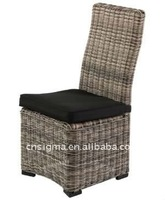 High quality outdoor rattan cheap high back high back accent chair
