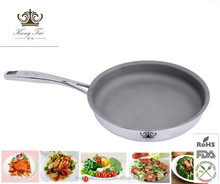 No smoke flat pan with safty metal
