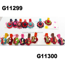 cute baby girl felt flower hair clips baby hair accessories