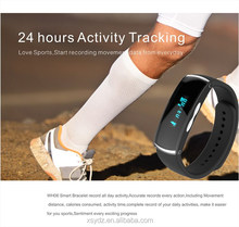 For iPhone 6 and Android Mobile Phone/Tablet IP67 Waterproof Wireless Bluetooth 4.0 wearable devices,Sport smart bracelet