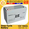 China manufacturer High Efficiency 100ah battery deep cycle 12v