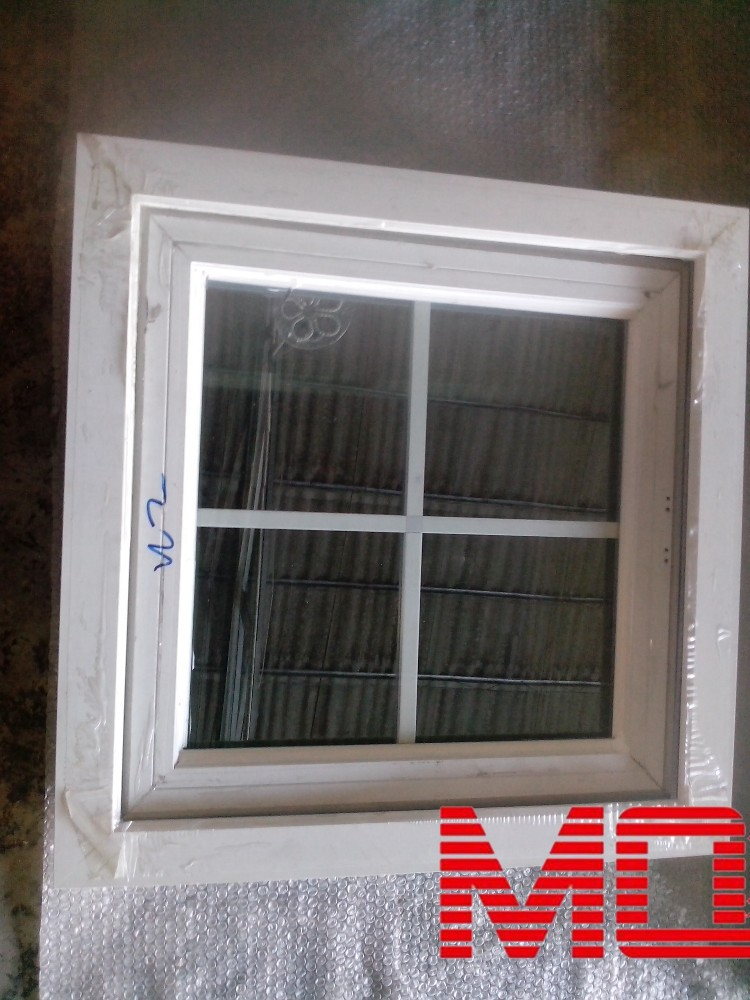 China Pvc Windows : China competitive price cornice window pvc grill