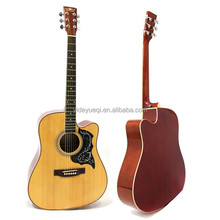 41 inch acoustic electric spruce wood basswood guitar