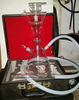 leather case glass shisha hookah glass water pipe