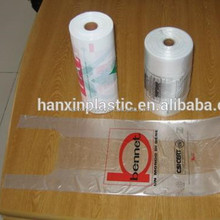 Professional supply cheap ldpe plastic t-shirt bags on roll