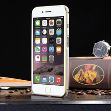 Promotional mobile phone accessories for iphone 6 double color aluminum bumper back cover phone case