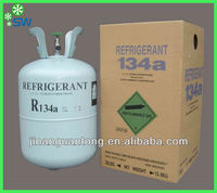 Gas R134a Refrigerant used to automotive air conditioning and air condition compressor