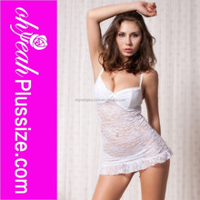 Wholesale white transparent plus size lingerie for fat women