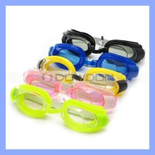 Soft Strap Unisex Swimming Goggles Glasses Set+Earplugs+Nose Clip Combo