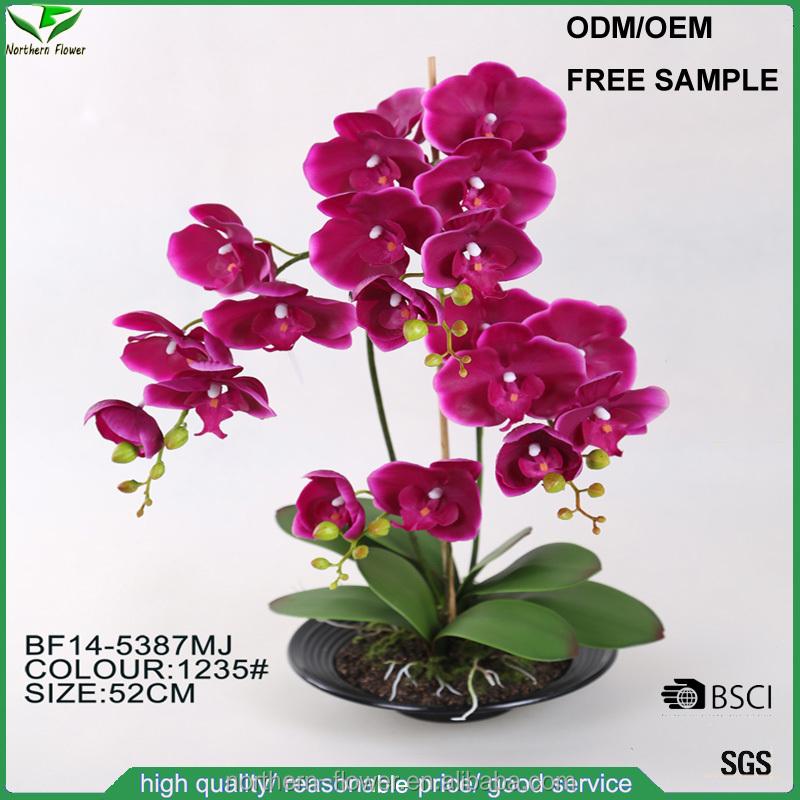 Estilo moderno <span class=keywords><strong>natureza</strong></span> toque rosa artificial orquídea phalaenopsis flores para casa <span class=keywords><strong>deco</strong></span>