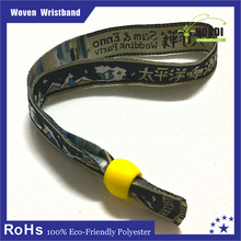 new product adjustable locking wholesale cloth wristband