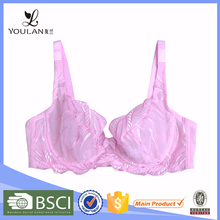 Customized Breathable Sexy Women Spandex/Nylon Sexy Cut Out Bra