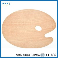 Good quality artist oval MDF wooden palette