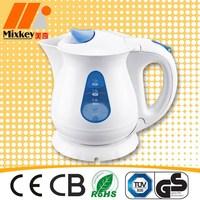 Mini cordless plastic electric water kettle 1.2L water jug tea pot tea maker