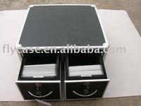 2015 new design aluminum cd case ,DVD carry case ,aluminum CD holder with CD bags