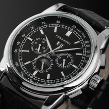 Classic Design Stainless Steel Moon Phase Watch Automatic Men Watches