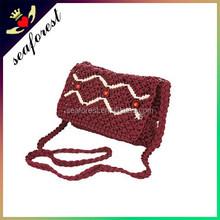 2015 knitting handmade girls small sling bags