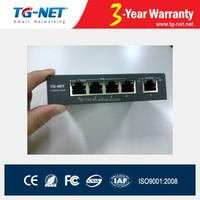 4 ports 60W 96W 120W 100M PoE switch WITH 1 UPLINK PORT ODM OEM PLUG AND PLAY WITH EXTERNAL POWER SUPPLY