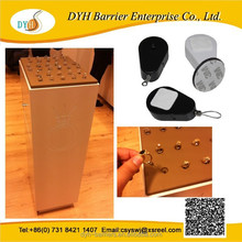 Retractors for retail store displays, jewelry security retractable pull box tethers