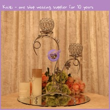 k6648 Wholesale Candlestick Wedding Gifts Colorful Crystal Candle Holder