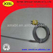 xiamen J type sheath thermocouple sensor with flexible metal hose with high quality and the best price