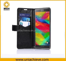 For Samsung Galaxy Note 4 PU Leather Case Wallet Stand Flip Cover With Card Slots