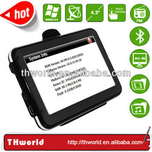 factory bottom price 4.3 inch Thailand map sat nav system with 800MHz CPU