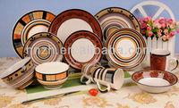Ceramic Handpainting ethnic minorities indian tableware dinner sets