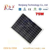 Aluminium Alloy Frame Polycrystalline Solar Panel 75w