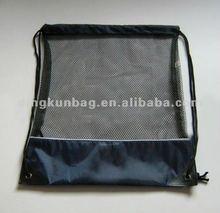 mesh/polyester drawstring bag