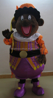Lovely plush costumes for fat people cartoon people mascot costume