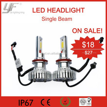 Off promotions of YF 12V car led headlight assembly H7, H8, H9, H11 kit 50W 3600LM 6000K bulb base in stock