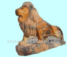 2012 new style marble stone hand carved big lion sculpture